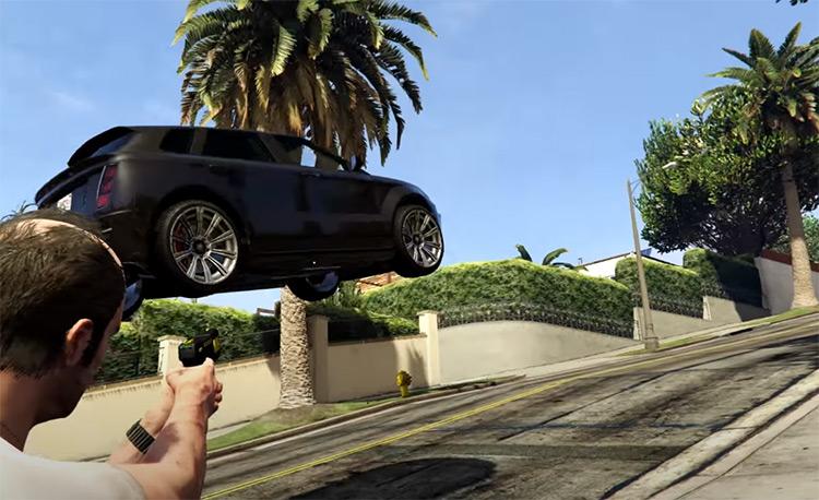 Gravity Gun mod for GTA5