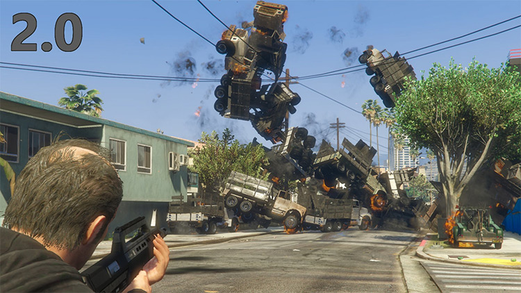 Vehicle Cannon Mod for GTA5