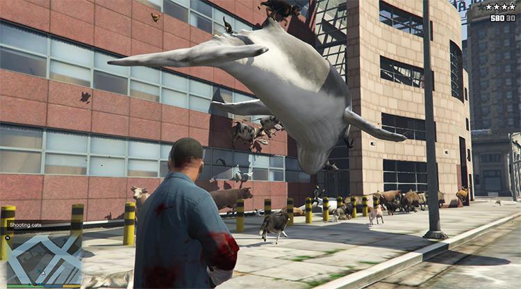 Animal Cannon mod for GTA5