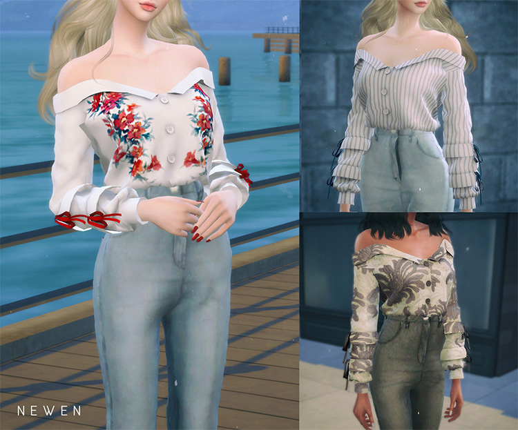 Off Shoulder Shirts & Tops CC pack