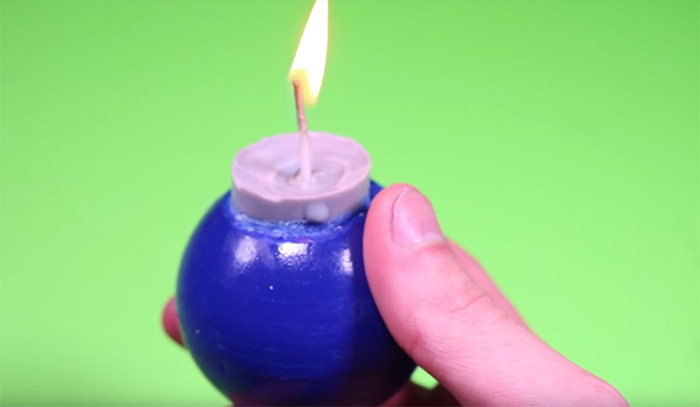 LoZ bomb candle diy