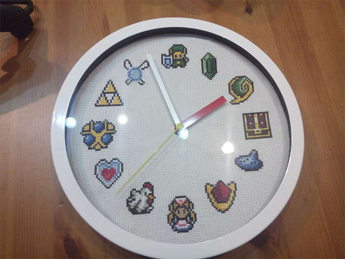DIY zelda clock pattern