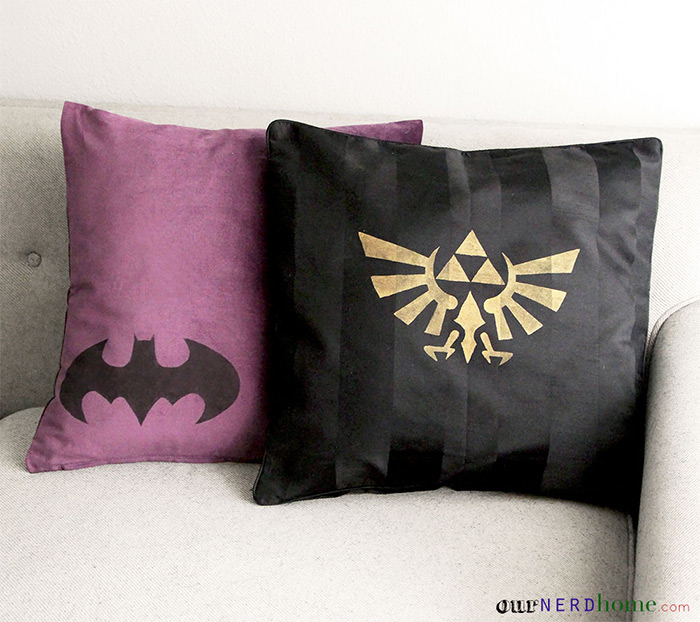 DIY zelda geek pillow
