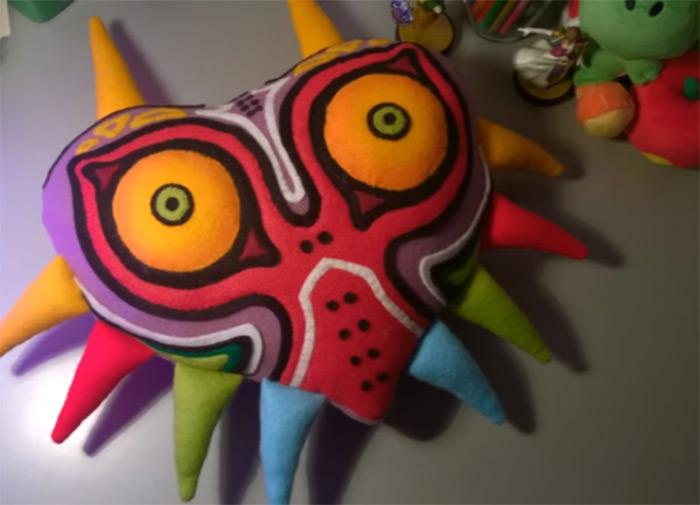 MM Mask plush cushion
