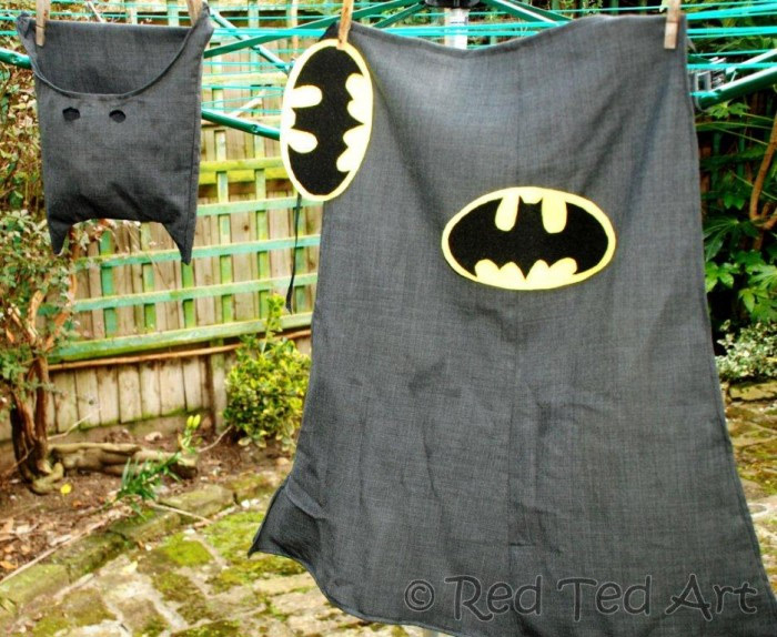 Upcycled batman costume project
