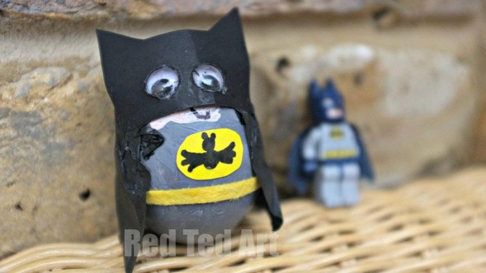 Batman egg decorations