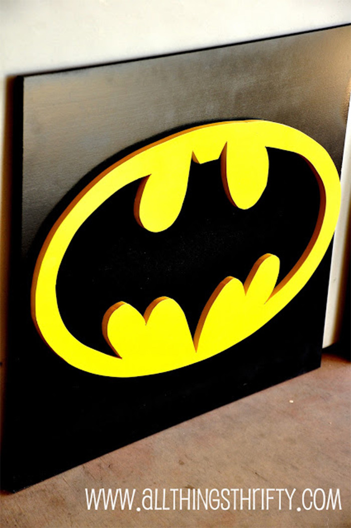 Batman wall art diy