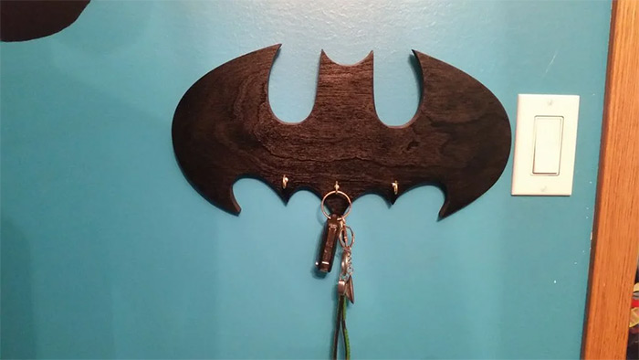 Wall key holder diy