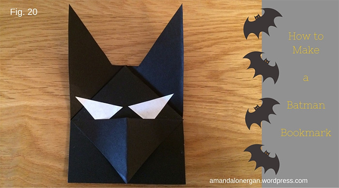 batman custom bookmark diy