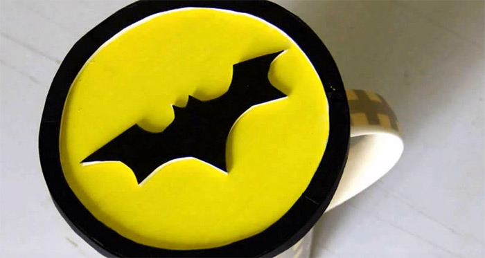 make a batman coaster