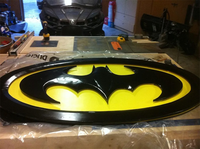 Fullsize batman wall sign