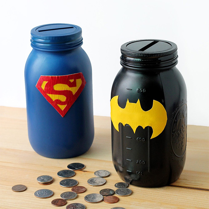 Mason jar batman diy