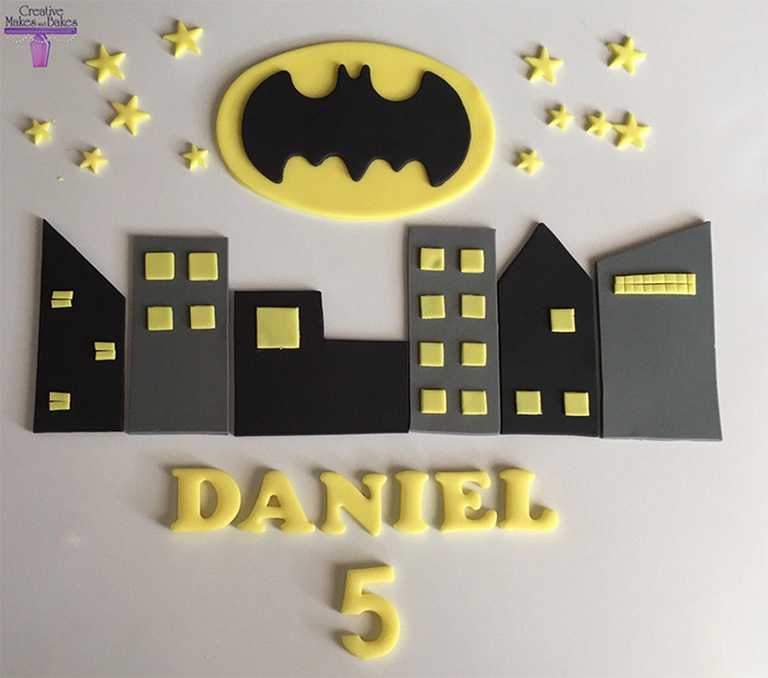 Batman cake topper diy
