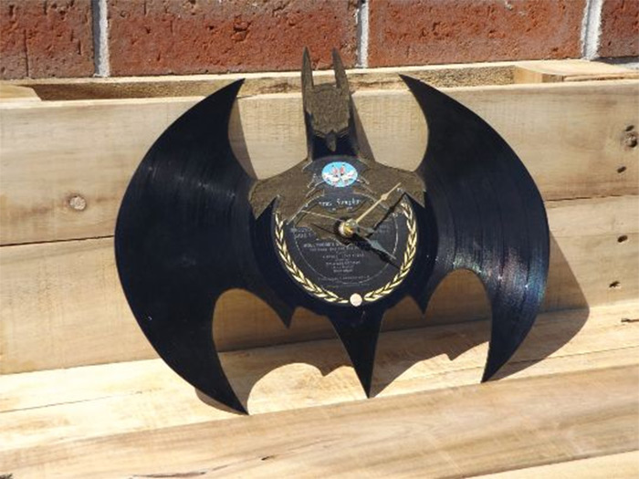 Batman diy record clock