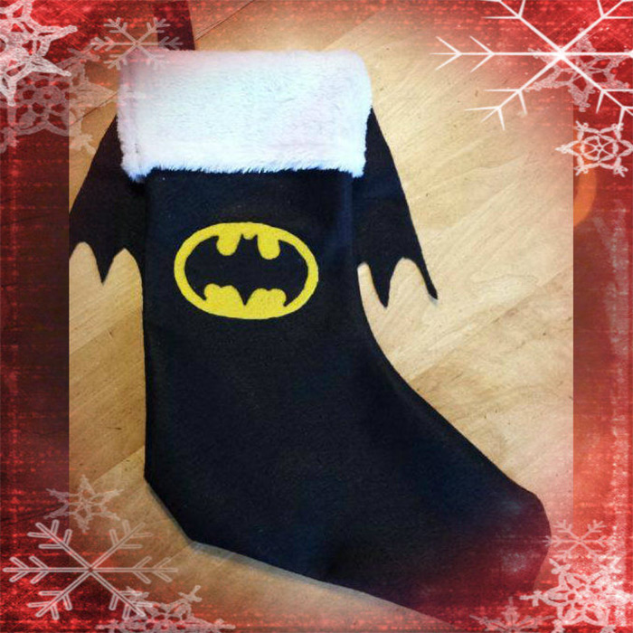 Batman stocking diy