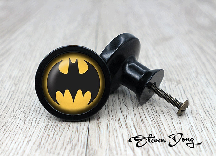Dark batman handles and knobs