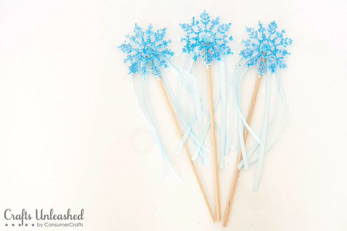 DIY elsa wand project