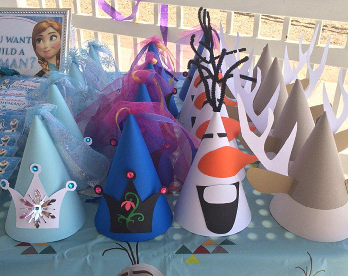 birthday party Frozen hats