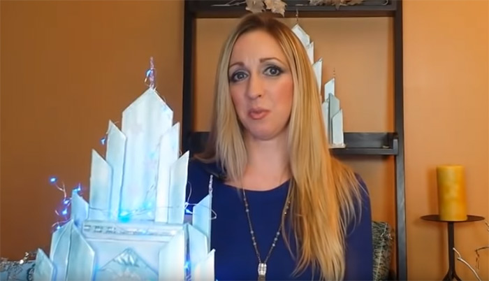 diy elsa castle craft