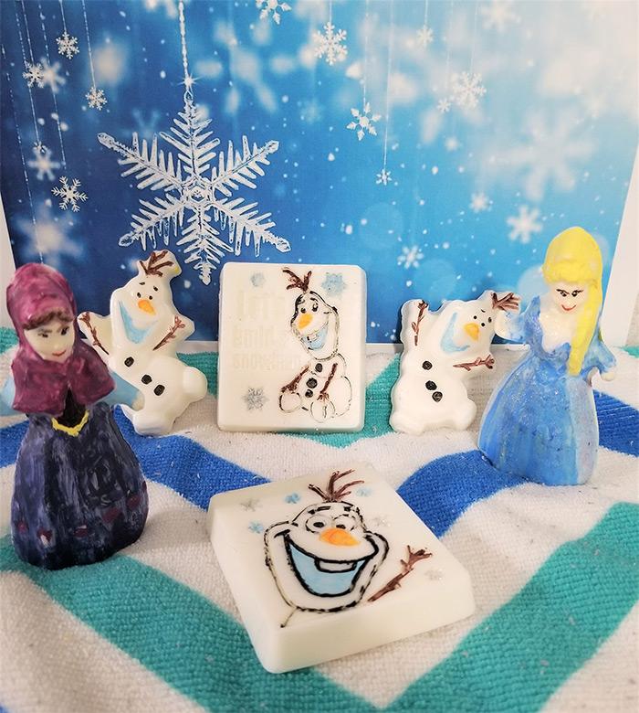 Gift soaps frozen diy
