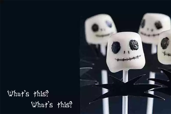 custom recipe marshmallow skellington
