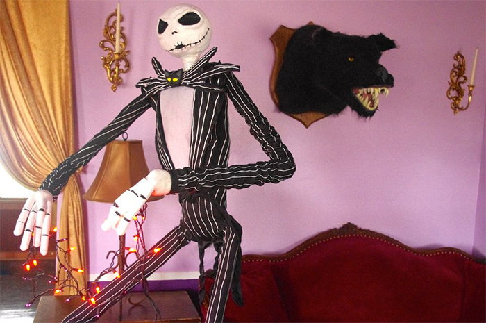 Lifelike jack skellington diy