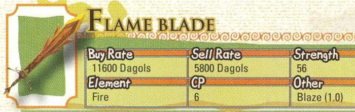 Flame Blade from Radiata Stories