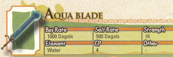 Aqua Blade from Radiata Stories