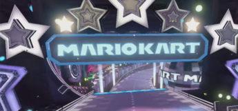 Super Mario Kart Electrodome level sign