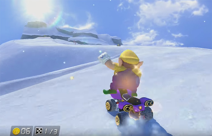 Mount Wario Mario Kart gameplay