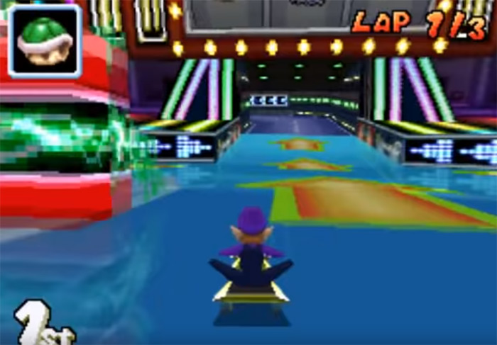 Waluigi Pinball level screenshot