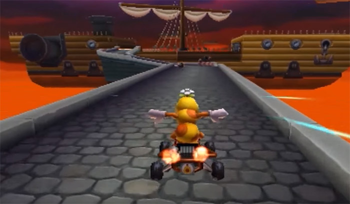 Airship Fortress Mario Kart 8 level
