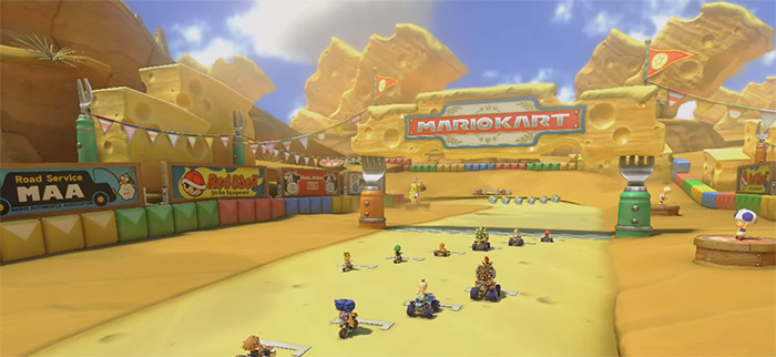 Cheese Land Mario Kart 8