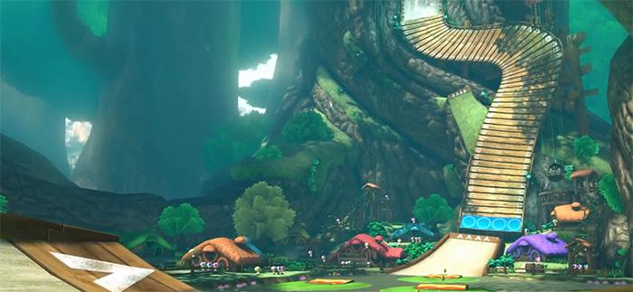 Wild Woods Mario Kart