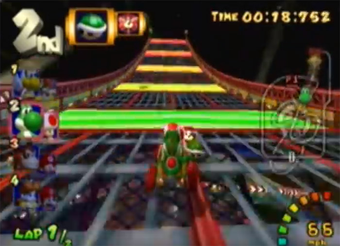 Wario Colosseum Mario Kart level