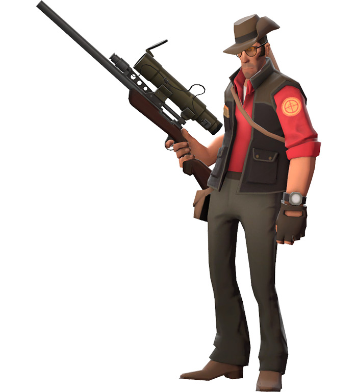 Sniper class in Team Fortress 2