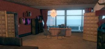 Interior screenshot - Saints Row HQ crib