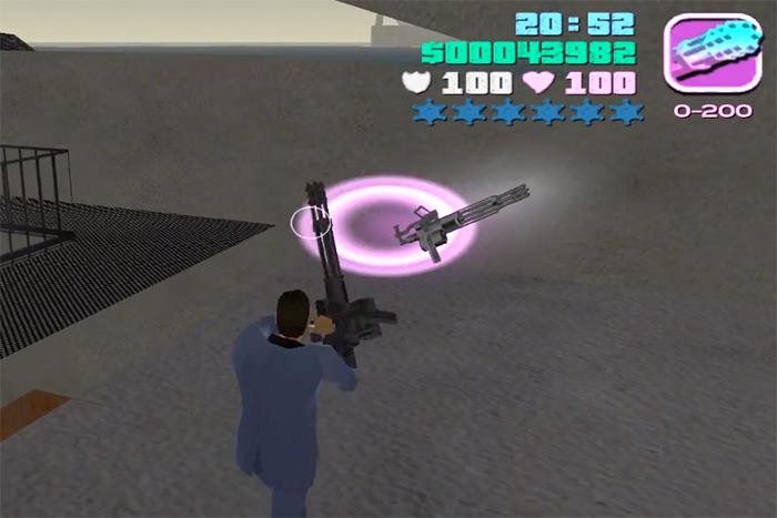 Minigun weapon from Vice City