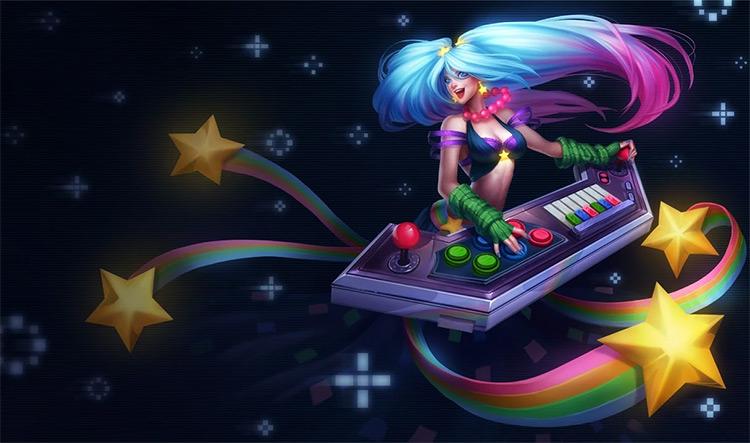 Arcade Sona skin splash art