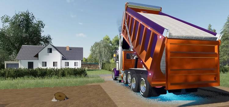 PETERBILT 379 Dump Truck Mod Preview / FS19