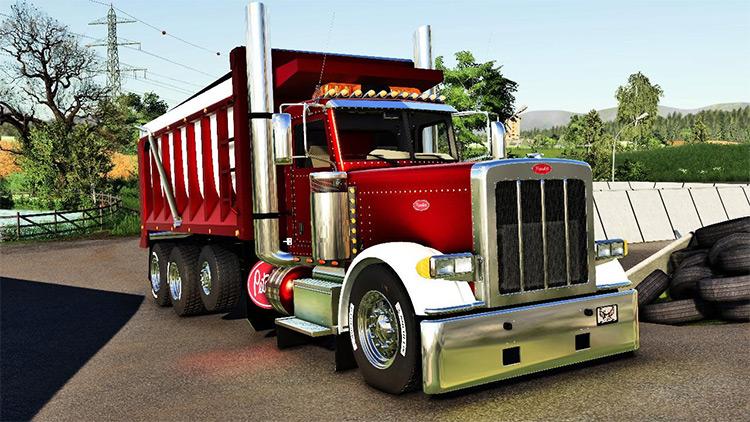 Peterbilt 379 Dump Truck Screenshot / Farming Simulator 19 Mod