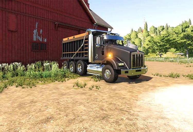 Kenworth T800 Dump Truck / Farming Simulator 19 Mod