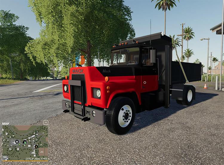 Mack R Dump Truck Screenshot / Farming Simulator 19 Mod