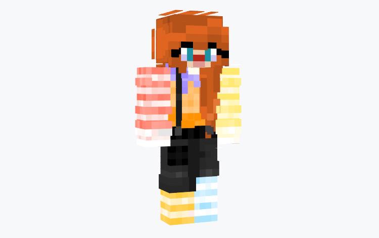 Ginger Clown Minecraft Skin