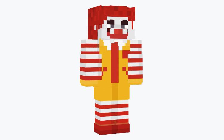 Ronald McDonald Minecraft Skin