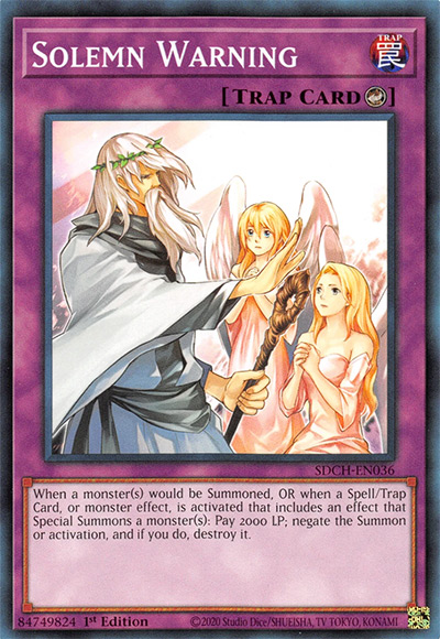 Solemn Warning Yu-Gi-Oh Card