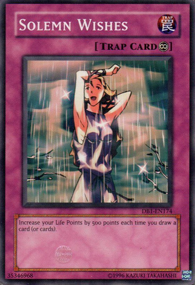 Solemn Wishes Yu-Gi-Oh Card