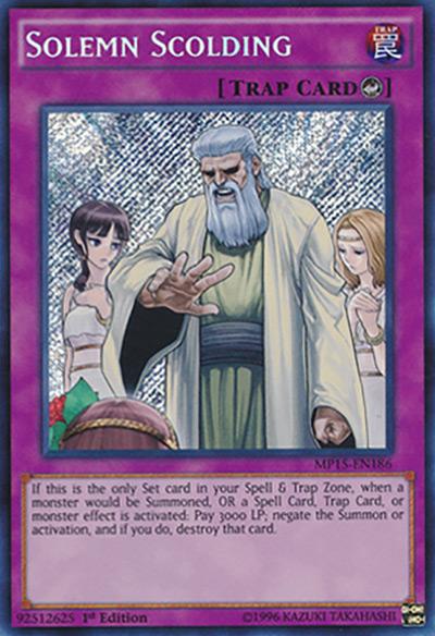 Solemn Scolding Yu-Gi-Oh Card