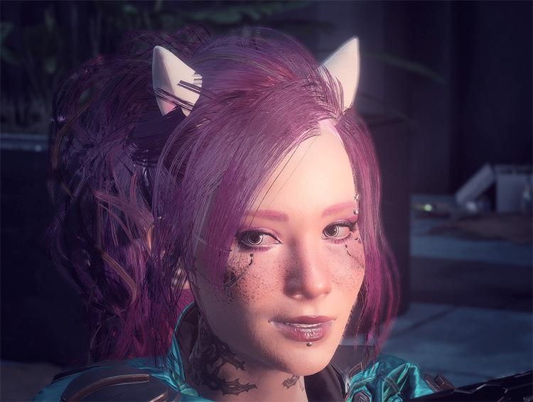 Cute Ears Mod for Cyberpunk 2077