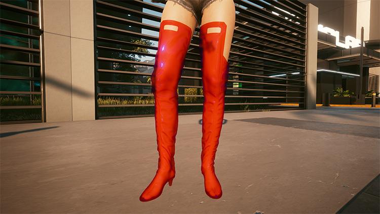 Boots Above Knee Mod for Cyberpunk 2077
